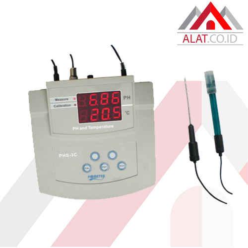 Bench pH Temp Meter AMTAST PHS-3C