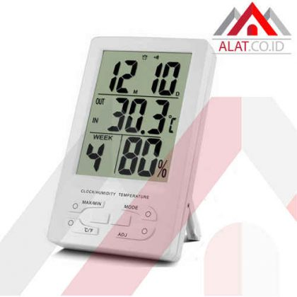 Indoor Thermometer Hygro and Clock TH96
