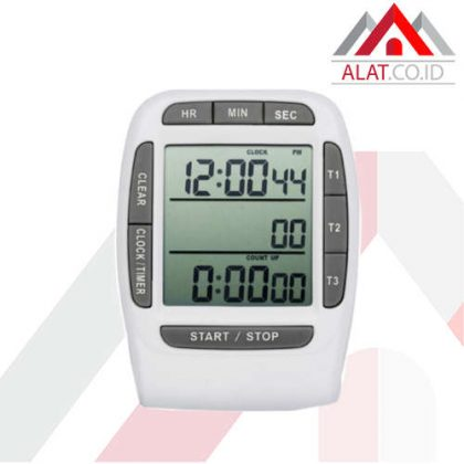 Digital 3 Channel Timer Clock and Stopwatch AMTAST AMT204